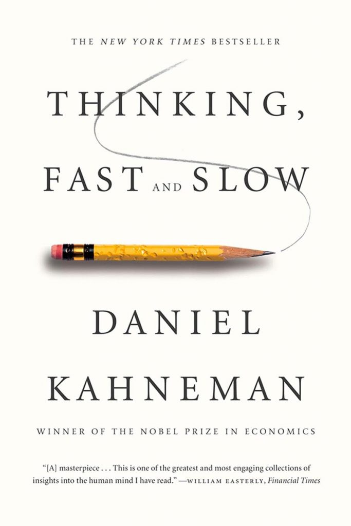 Thinking fast and slow by Daniel Kahneman book cover