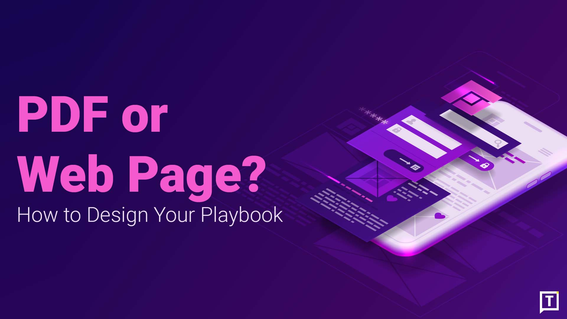 how to design a playbook cover image