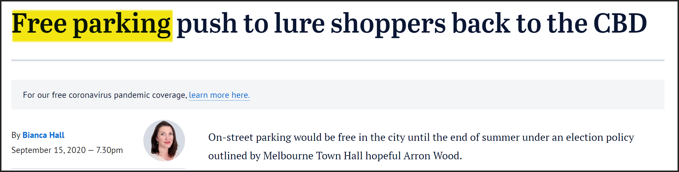 Free parking melbourne cbd