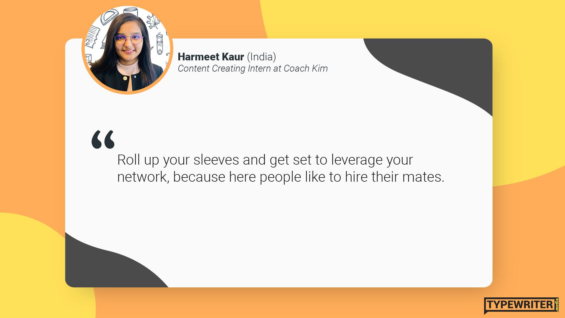 Harmeet advice to international communications graduates