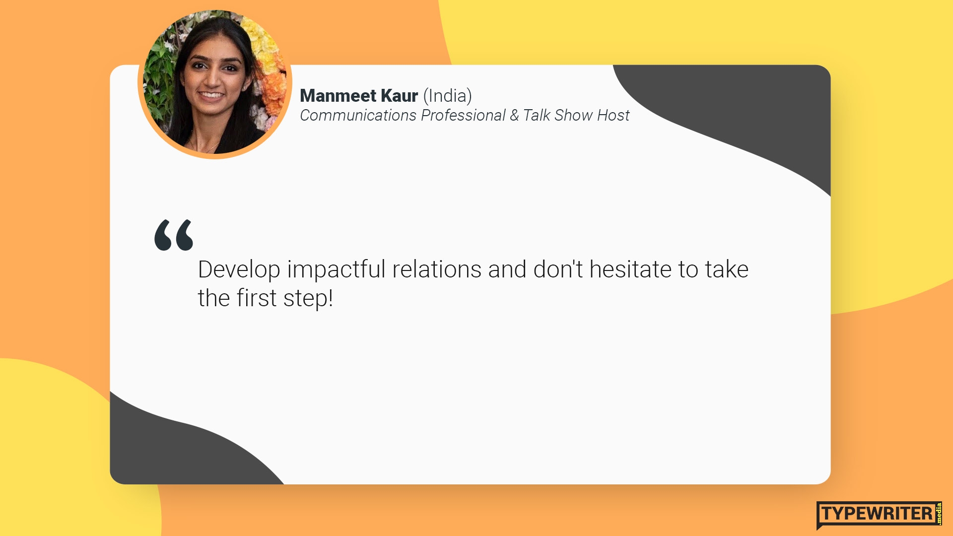 Manmeet's advice to international communications graduates