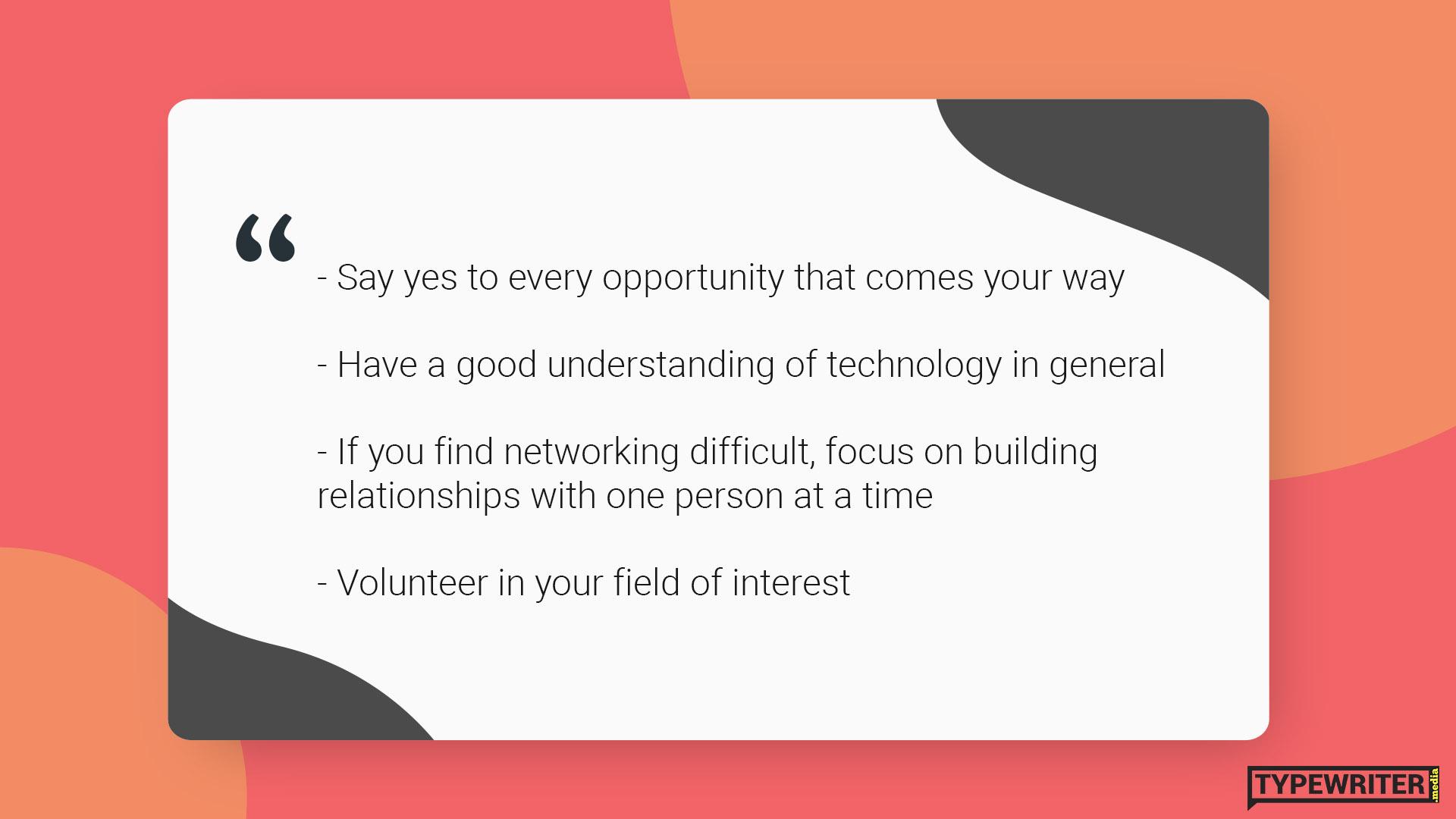 Vijay advice for international communications graduate in Australia